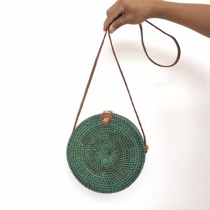 bali bag groen rotan from east to west