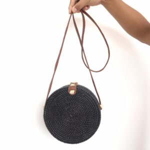bali bag zwart rotan from east to west